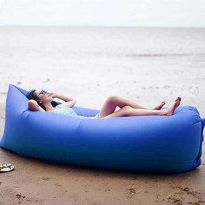 2X Fast Inflatable Sleeping Bag Lazy Air Sofa Blue