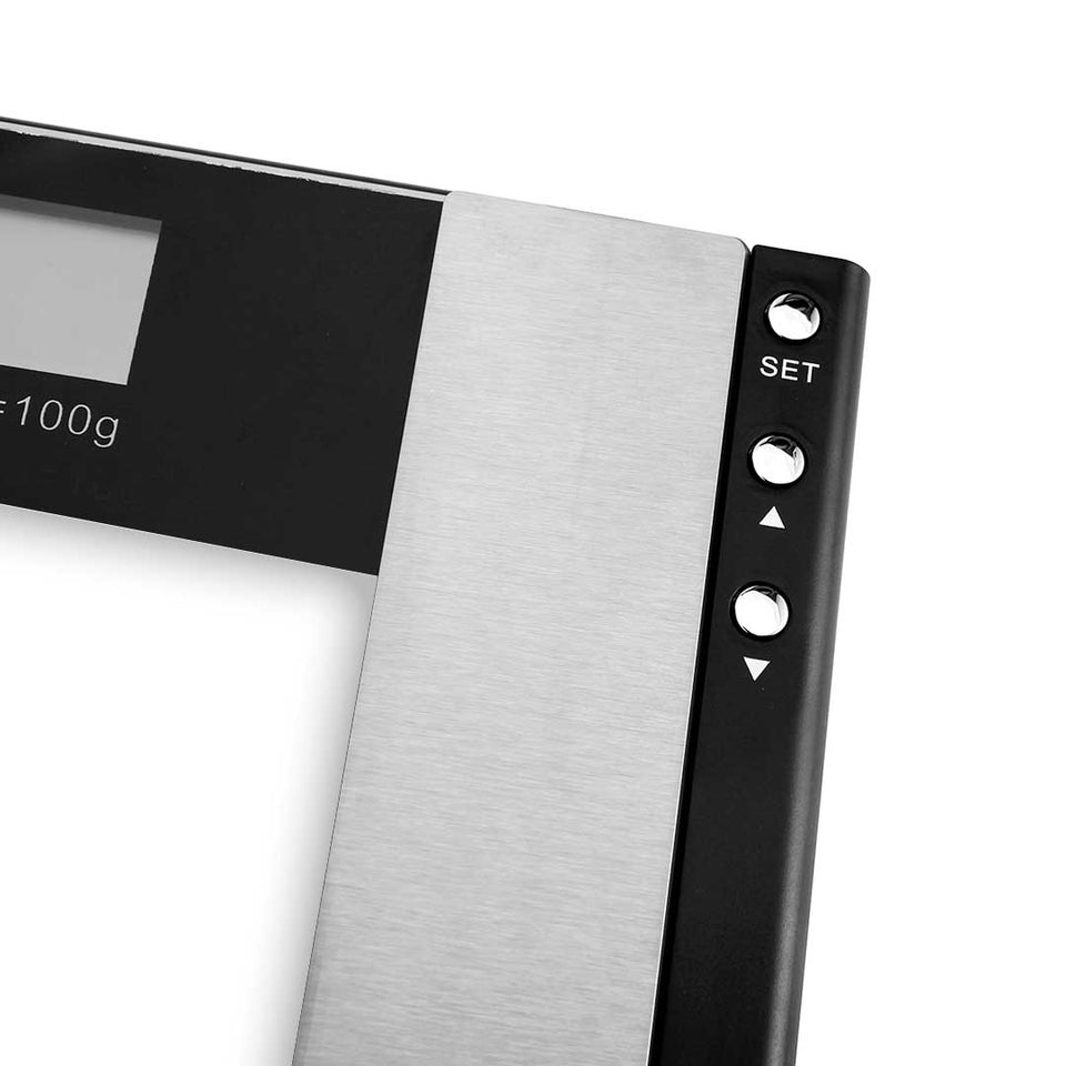 SOGA 2x Glass Digital Body Fat Scale Bathroom Scales Weight Gym Glass Water LCD Electronic
