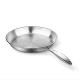 SOGA Stainless Steel Fry Pan 24cm 34cm Frying Pan Top Grade Induction Cooking