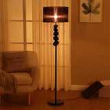 SOGA Floor Lamp Metal Base Standing Light with Dark Shade Tall Lamp