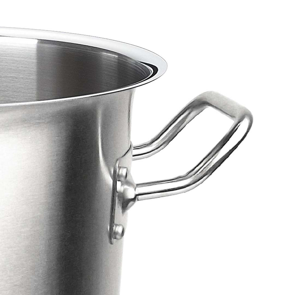SOGA Stock Pot 58L Top Grade Thick Stainless Steel Stockpot 18/10 Without Lid