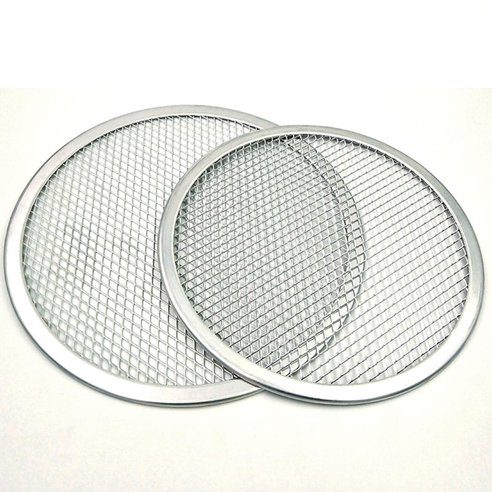 SOGA 10-inch Round Seamless Aluminium Nonstick Commercial Grade Pizza Screen Baking Pan