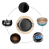 SOGA Electric Smart Induction Cooktop and 30cm Cast Iron Frying Pan Skillet Sizzle Platter