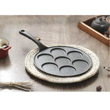 SOGA 2X 23cm Cast Iron Takoyaki Fry Pan Octopus Balls Maker 7 Hole Cavities Grill Mold