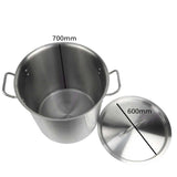 SOGA Stock Pot 198Lt Top Grade Thick Stainless Steel Stockpot 18/10