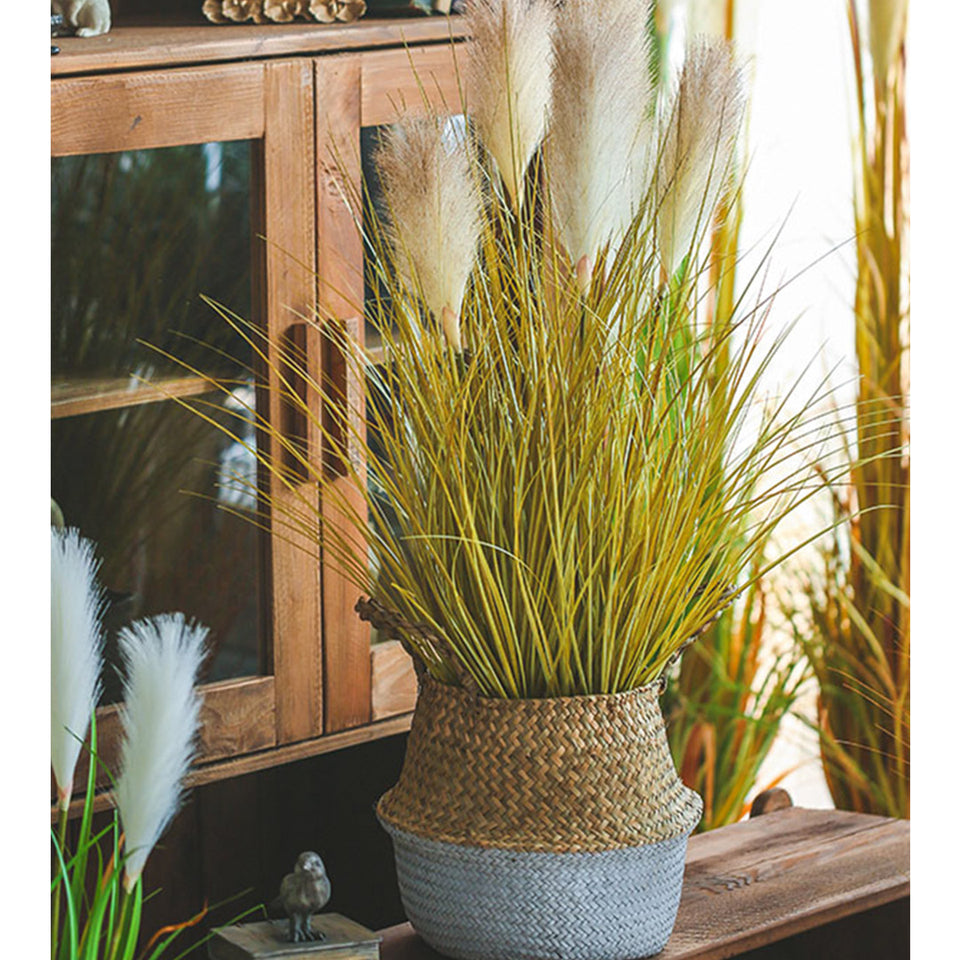SOGA 137cm Artificial Indoor Potted Reed Bulrush Grass Tree Fake Plant Simulation Decorative