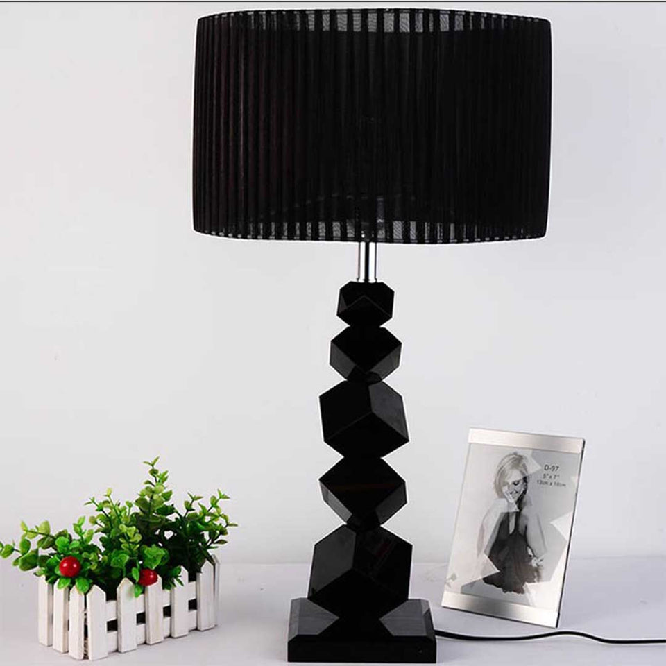 SOGA 2X 60cm Black Table Lamp with Dark Shade LED Desk Lamp