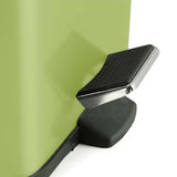 SOGA Foot Pedal Stainless Steel Rubbish Recycling Garbage Waste Trash Bin Square 6L Green