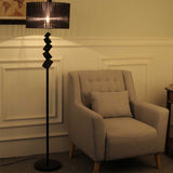 SOGA 2x Floor Lamp Metal Base Standing Light with Dark Shade Tall Lamp
