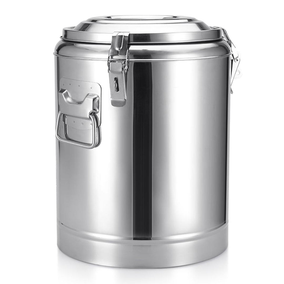 SOGA 2X 30L Stainless Steel Insulated Stock Pot Dispenser Hot & Cold Beverage Container