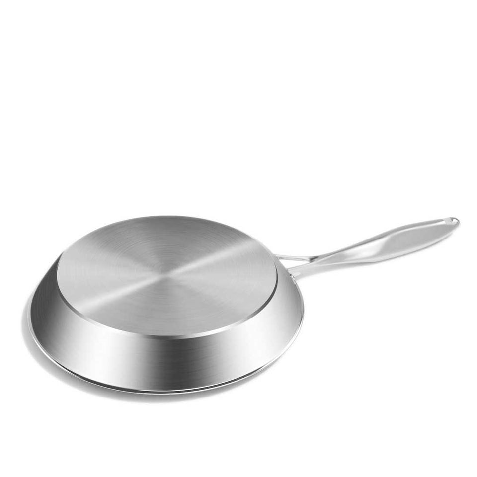 SOGA Stainless Steel Fry Pan 22cm 26cm Frying Pan Top Grade Induction Cooking