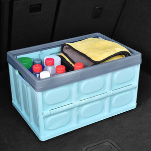 SOGA 56L Collapsible Waterproof Car Trunk Storage Multifunctional Foldable Box Blue