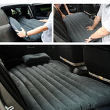 SOGA 2x Inflatable Car Mattress Portable Travel Camping Air Bed Rest Sleeping Bed Black