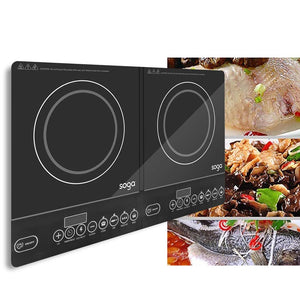 SOGA 2X Cooktop Portable Induction LED Electric Double Duo Hot Plate Burners Cooktop Stove