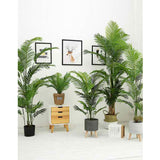 SOGA 4X 145cm Green Artificial Indoor Swallowtail Sunflower Tree Fake Plant Simulation Decorative