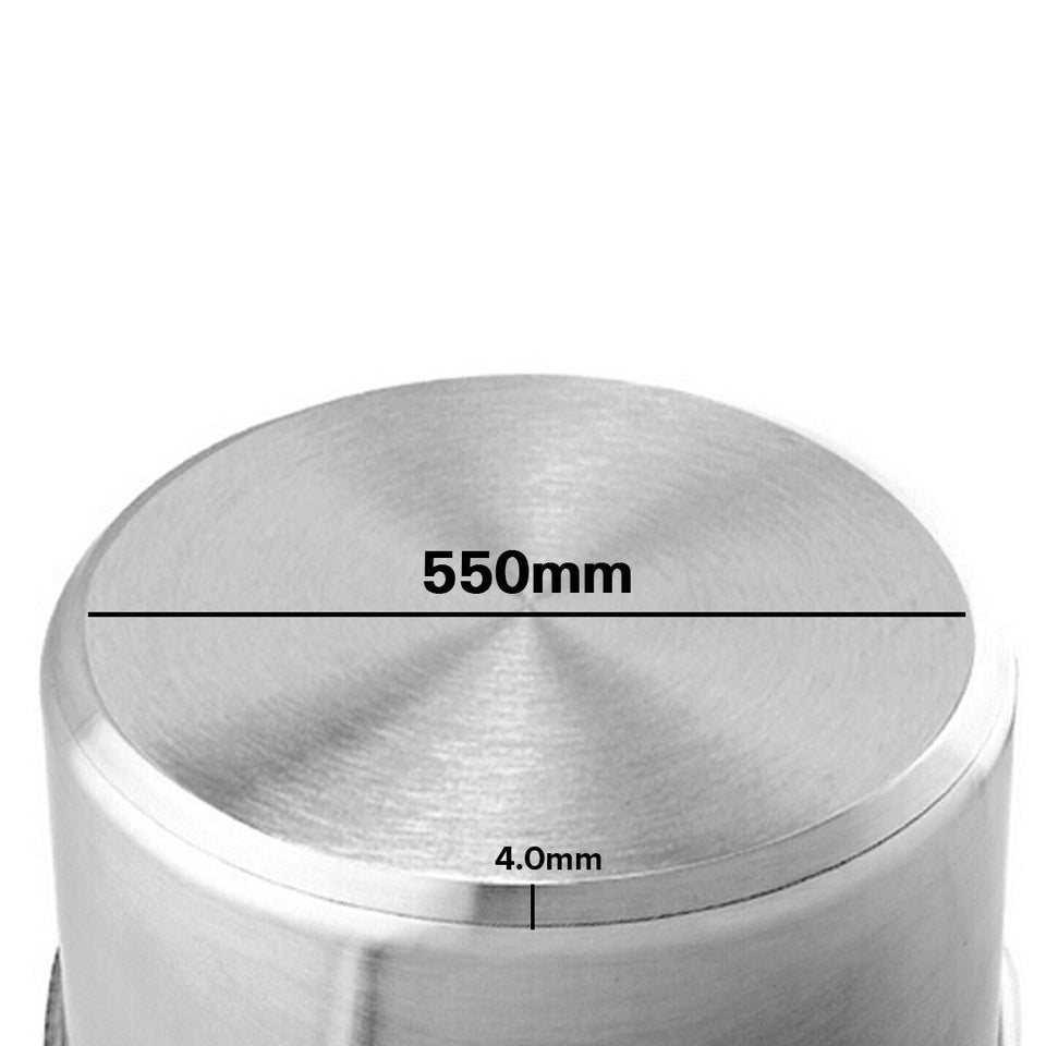 SOGA Stock Pot 83L Top Grade Thick Stainless Steel Stockpot 18/10