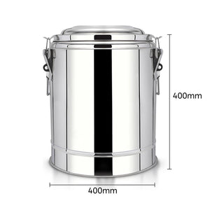 SOGA 2X 35L Stainless Steel Insulated Stock Pot Dispenser Hot & Cold Beverage Container