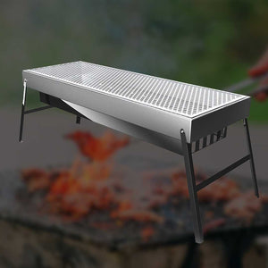 SOGA Stainless Steel Skewer Charcoal BBQ With Grill