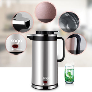 Cordless 1.8L Electric Kettle with Smart Keep Warm Function Dark Chrome