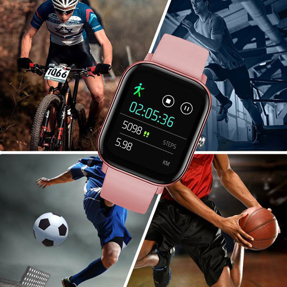 SOGA Waterproof Fitness Smart Wrist Watch Heart Rate Monitor Tracker P8 Pink