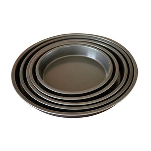 SOGA 2X 7-inch Round Black Steel Non-stick Pizza Tray Oven Baking Plate Pan