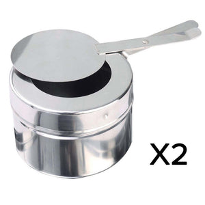 SOGA 4X 9L Stainless Steel 2 Pans Bain-marie Chafing Catering Dish Buffet Food Warmer