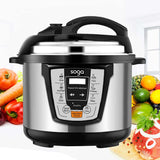SOGA Electric Stainless Steel Pressure Cooker 10L 1600W Multicooker 16