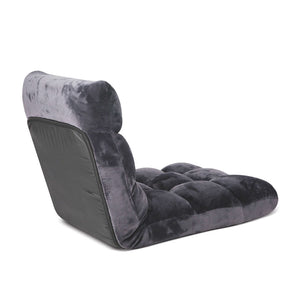 SOGA Floor 4x Recliner Folding Lounge Sofa Futon Couch Folding Chair Cushion Grey