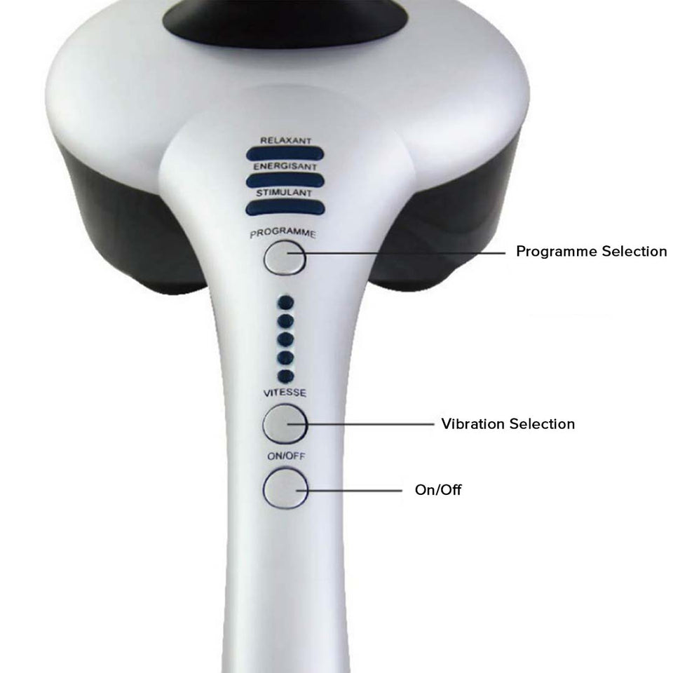 SOGA 2X Deluxe Hand Held Infrared Percussion Massager with Soothing Heat