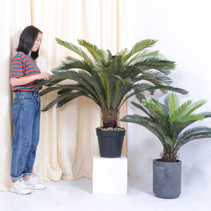 SOGA 2X 155cm Artificial Indoor Cycas Revoluta Cycad Sago Palm Fake Decoration Tree Pot Plant