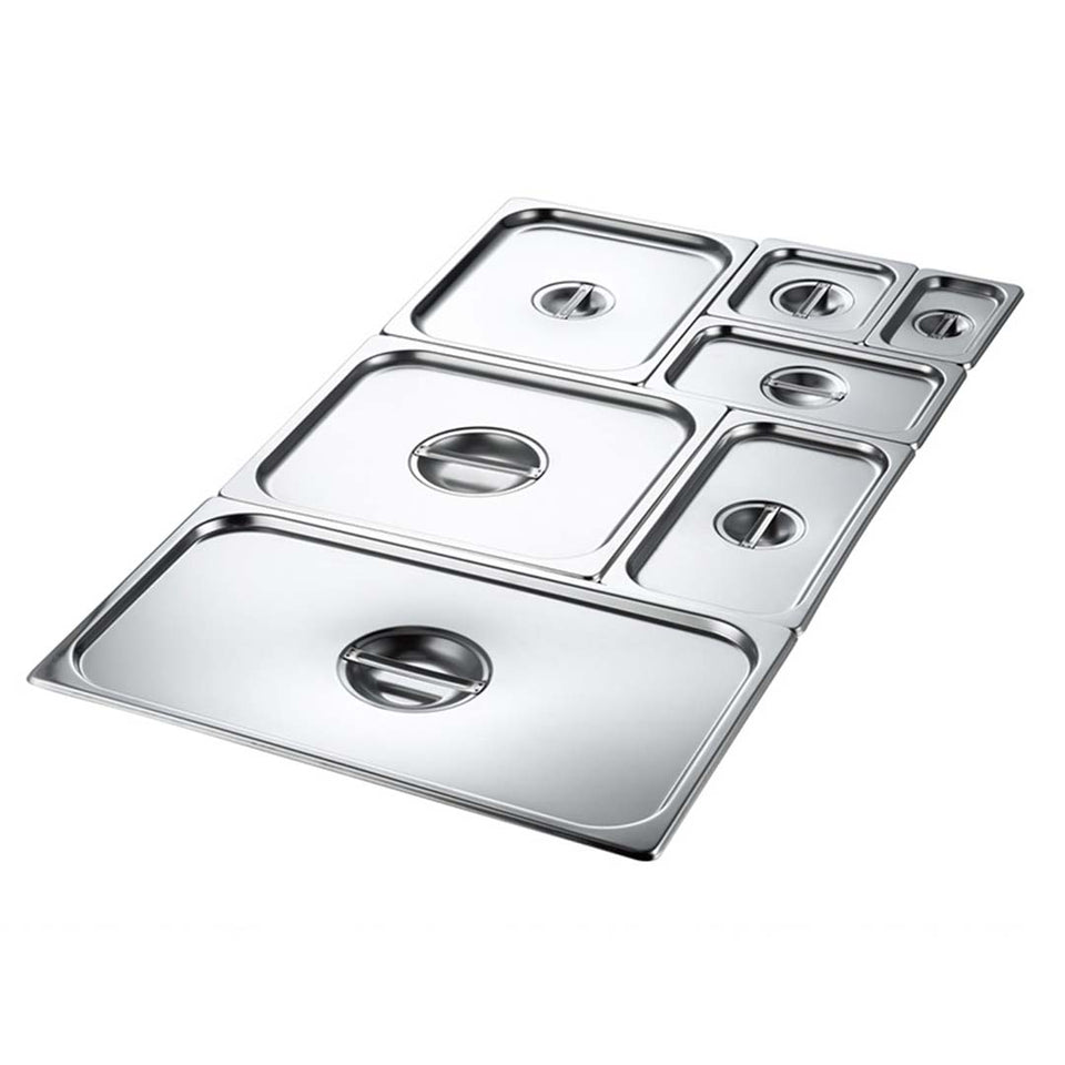 SOGA 6X Gastronorm GN Pan Lid Full Size 1/2 Stainless Steel Tray Top Cover