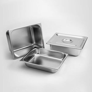 SOGA 2X Gastronorm GN Pan Full Size 1/2 GN Pan 20cm Deep Stainless Steel Tray