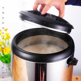 SOGA 10L Portable Insulate Cold/Heat Coffee Bubble Tea Pot Beer Barrel With Dispenser
