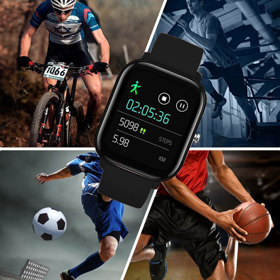 SOGA Waterproof Fitness Smart Wrist Watch Heart Rate Monitor Tracker P8 Black