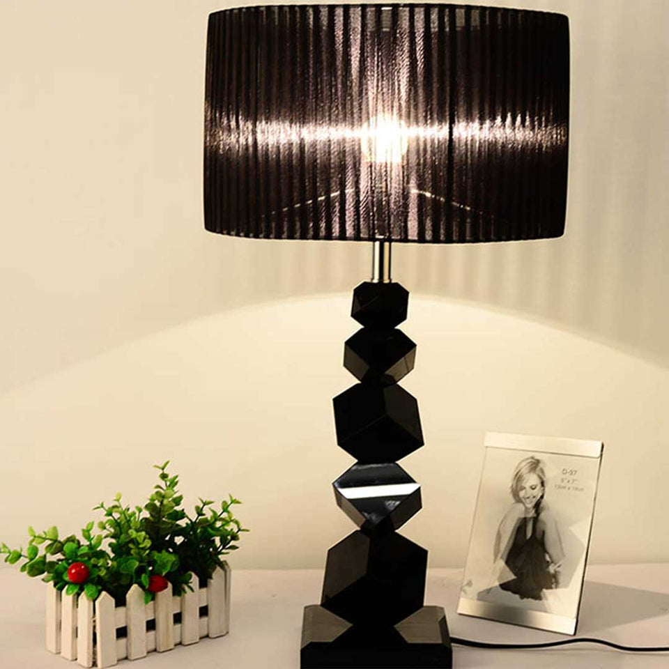 SOGA 4X 55cm Black Table Lamp with Dark Shade LED Desk Lamp