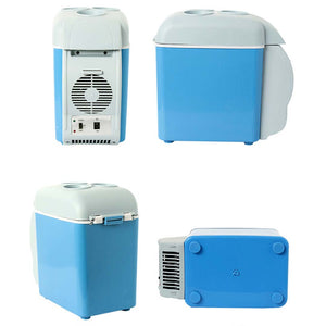 SOGA 7.5L Car Small Refrigerator Cooler Box 12V Mini Fridge Cooler Warmer Blue Color