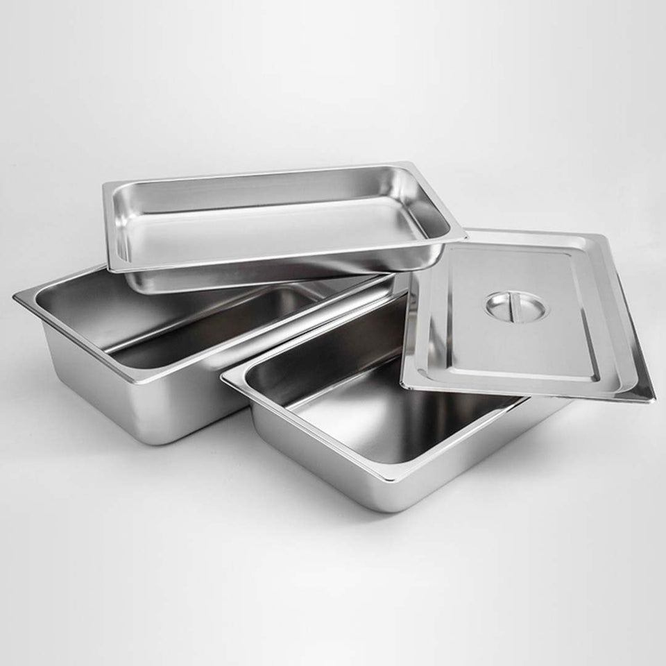 SOGA Gastronorm GN Pan Full Size 1/1 GN Pan 20cm Deep Stainless Steel Tray