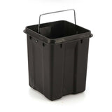 SOGA 4X Foot Pedal Stainless Steel Rubbish Recycling Garbage Waste Trash Bin Square 12L Green