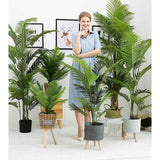 SOGA 2X 145cm Green Artificial Indoor Swallowtail Sunflower Tree Fake Plant Simulation Decorative
