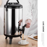 SOGA 4 x 8L Portable Insulated Cold/Heat Coffee Bubble Tea Pot Beer Barrel With Dispenser