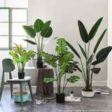 SOGA 2X 120cm Artificial Green Indoor Traveler Banana Fake Decoration Tree Flower Pot Plant