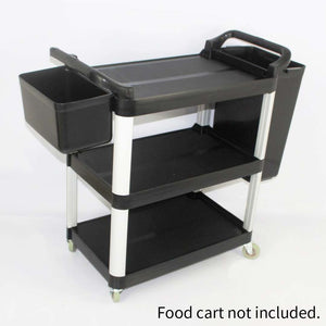 SOGA Small Food Trolley Utility Cart Waste Storage Bin
