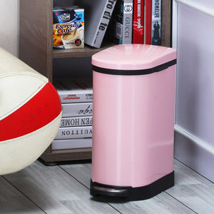 SOGA 4X Foot Pedal Stainless Steel Rubbish Recycling Garbage Waste Trash Bin 10L U Pink