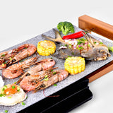 SOGA 2X Electric Ceramic BBQ Grill Non-stick Surface Hot Plate for Indoor & Outdoor Stone