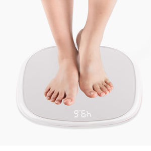 SOGA 2X 180kg Digital Fitness Weight Bathroom Gym Body LCD Electronic Scales White/Pink