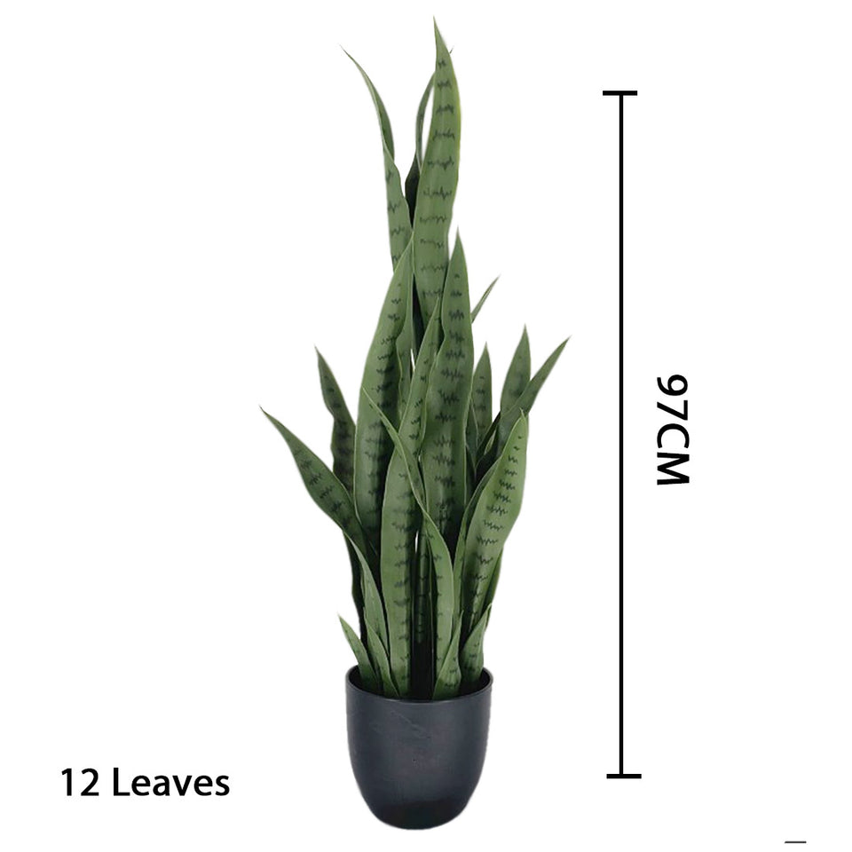 SOGA 97cm Artificial Indoor Snake Sansevieria Plant Fake Decoration Tree Flower Pot