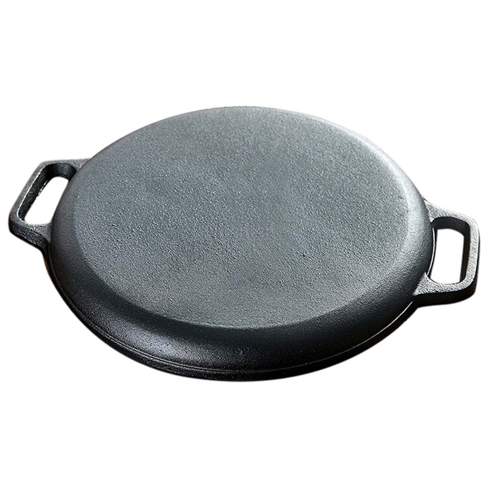 SOGA Dual Burners Cooktop Stove 30cm Cast Iron Frying Pan Skillet and 30cm Induction Fry Pan