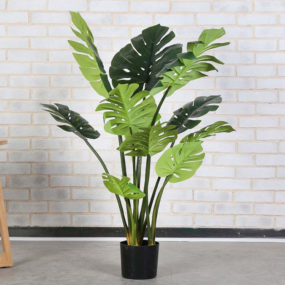 SOGA 93cm Artificial Indoor Potted Turtle Back Fake Decoration Tree Flower Pot Plant
