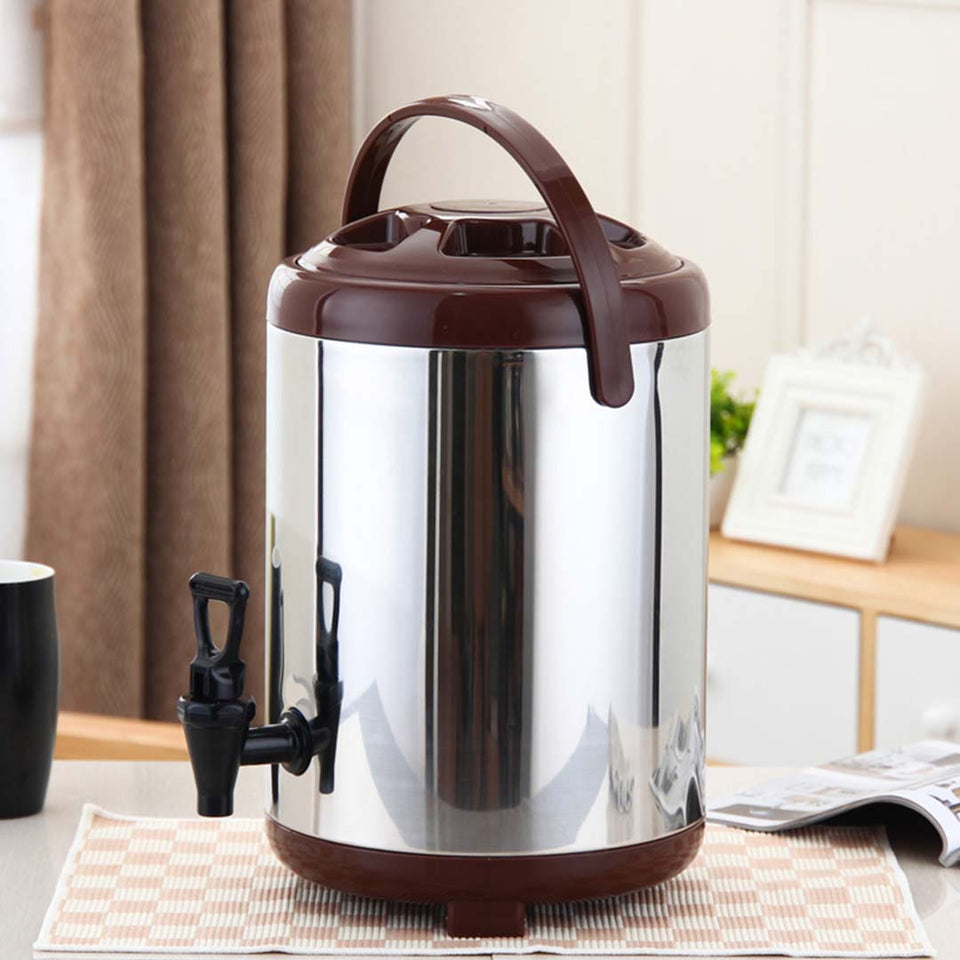 SOGA 8X 16L Portable Insulated Cold/Heat Coffee Tea Beer Barrel Brew Pot With Dispenser