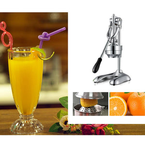 SOGA Stainless Steel Manual Juicer Hand Press Juice Extractor Squeezer Orange Citrus